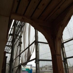 バルコニーの下のアーチ(アール)|明石市東野町の注文住宅 無添加住宅専門店モスハウス田端