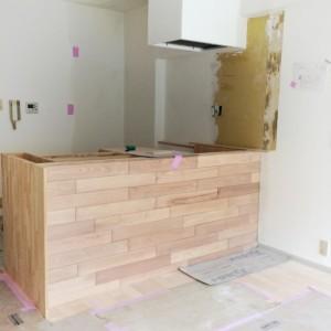 給排水を確認して対面キッチンに。|神戸市西区のマンションリノベーション モスハウス田端の施工事例