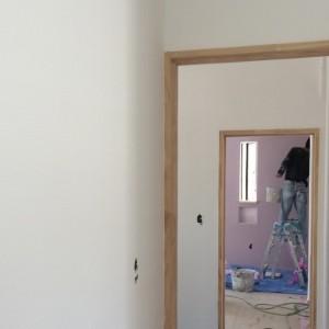 室内しっくい塗り作業|明石市東野町の注文住宅 無添加住宅専門店モスハウス田端
