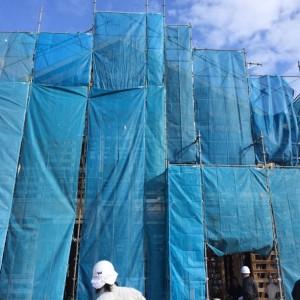 淡路市東浦の注文住宅 屋根の紙貼り(ルーフィング)|無添加住宅専門モスハウス田端の現場中継