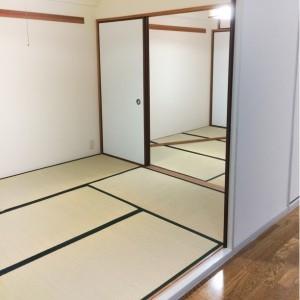二間続きの和室を事務所スペースに。|神戸市西区のマンションリノベーション モスハウス田端の施工事例