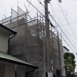 まずは足場から|神戸市垂水区の戸建てリノベーション モスハウス田端
