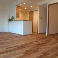 キッチンとリビング|神戸市西区のマンションリノベーション施工事例 無添加住宅専門モスハウス田端