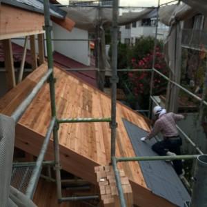 無添加住宅の野路板は合板を使いません。|神戸市西神中央の注文住宅 モスハウス田端の現場中継