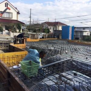 第三者機関による配筋検査。|神戸市西神中央の注文住宅 モスハウス田端の現場中継