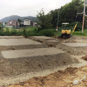 着工 地業|神戸市須磨区西須磨の注文住宅「片流れ屋根の平屋」無添加住宅モスハウス現場中継