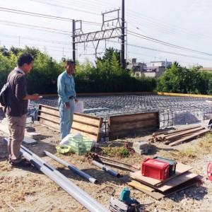 基礎工事|神戸市須磨区西須磨の注文住宅「片流れ屋根の平屋」無添加住宅モスハウス現場中継