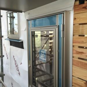 水切り 部材|神戸市須磨区西須磨の注文住宅「片流れ屋根の平屋」無添加住宅モスハウス現場中継