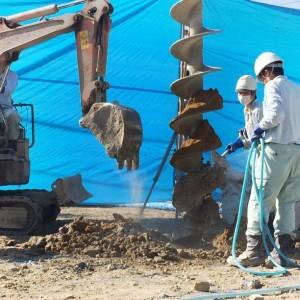 地盤補強工事です。|神戸市西神中央の注文住宅 モスハウス田端の現場中継