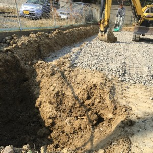地盤も良好。基礎工事開始。|神戸市垂水区塩屋町の注文住宅 モスハウス田端の現場中継