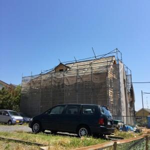 屋根はクールーフマルチ|神戸市垂水区塩屋町の注文住宅 モスハウス田端の現場中継