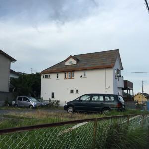 神戸市垂水区塩屋町の注文住宅の外観|モスハウス田端の現場中継