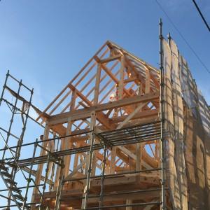 今回の垂水区塩屋町の現場でも無事に上棟を迎えることができました。|神戸市の注文住宅工務店 モスハウス田端の現場中継