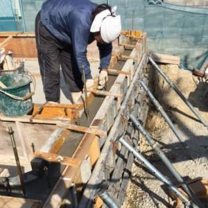 基礎工事が進んでます。|神戸市垂水区塩屋町の注文住宅 モスハウス田端の現場中継