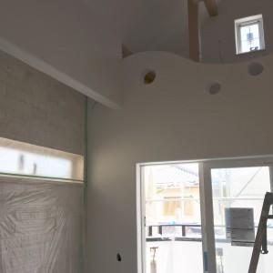 腰壁と垂れ壁。|神戸市垂水区塩屋町の注文住宅 モスハウス田端の現場中継