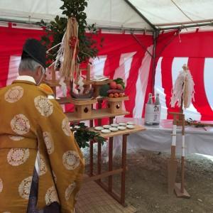 地鎮祭が家造りのスタート|神戸市垂水区塩屋町の注文住宅 モスハウス田端の現場中継