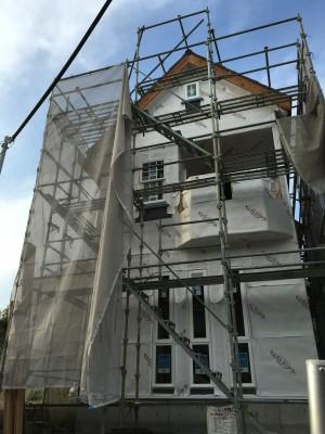 急勾配のとんがり屋根。|神戸市垂水区塩屋町の注文住宅 モスハウス田端の現場中継