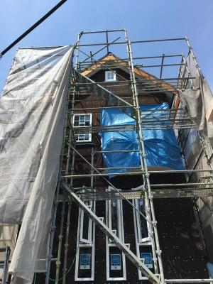 断熱材の炭化コルク|神戸市垂水区塩屋町の注文住宅 モスハウス田端の現場中継