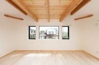 ロフトの床下を現しにした寝室|神戸市西区の注文住宅 無添加住宅専門モスハウス田端の施工事例