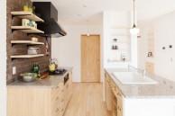 無添加住宅オリジナルキッチン|神戸市西区の注文住宅 無添加住宅専門モスハウス田端の施工事例