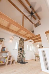 リビング吹抜け|神戸市垂水区の注文住宅 モスハウス田端の施工事例