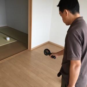 赤外線モニターで床暖房の敷設場所を確認|神戸市灘区のマンションリノベーション 無添加住宅専門店モスハウス田端