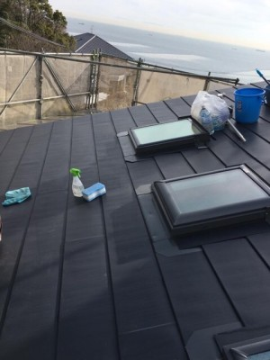屋根の清掃|神戸市須磨区でリノベーション工事 無添加住宅専門モスハウス田端