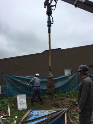 地盤改良 神戸市垂水区塩屋町の注文住宅 モスハウス田端の現場