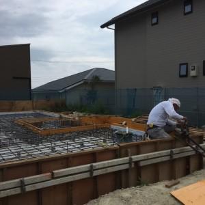 型枠 基礎工事 神戸市垂水区塩屋町の注文住宅 モスハウス田端の現場
