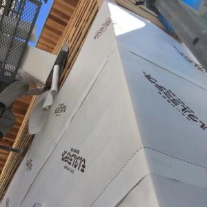 透湿防水シートの施工 神戸市垂水区塩屋町の注文住宅 モスハウス田端の現場