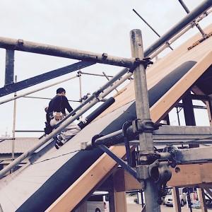 無添加住宅の屋根ルーフィング施工中|加古郡稲美町の注文住宅モスハウス田端の【現場中継】