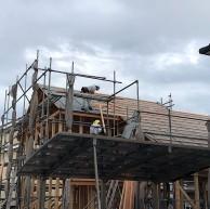 屋根の桟施工