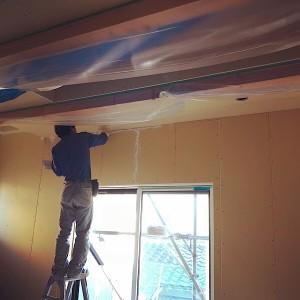 しっくい塗り目地詰め作業