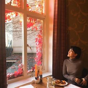 アビーホテルの朝食にて