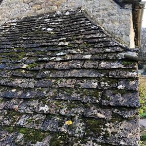 バイブリ―の石屋根