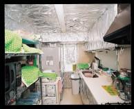 アルミ箔で覆われた化学物質過敏症の方の住まい