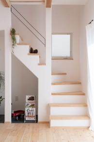 漆喰の階段
