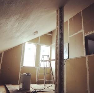 勾配天井しっくい塗り
